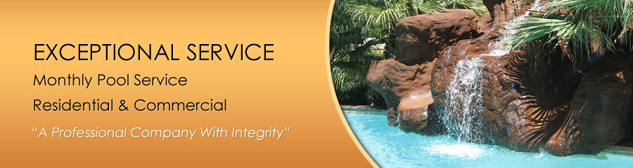 Monthly Swimming Pool Service