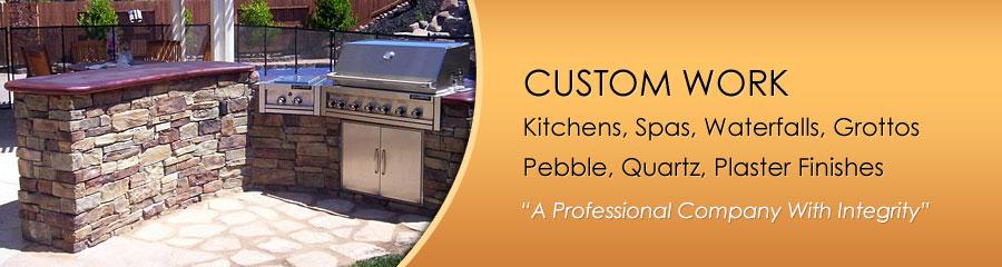 Custom Outdoor Kitchens, Spas, Waterfalls, Grottos